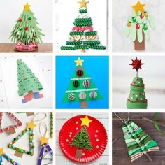 christmas crafts for kids christmas ideas новый год, под Christmas Crafts For Toddlers, Preschool Christmas, Christmas Activities, Toddler Crafts, Kids Christmas, Christmas Pictures, Creative Christmas Trees, Christmas Tree Crafts, Simple Christmas