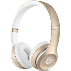 Beats Solo2 Wireless On-Ear Headphones Gold ❤ liked on Polyvore featuring accessories