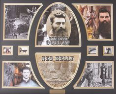 Ned Kelly, Victoria Police, Irish, Folk, December, Wings, Gallery Wall, Frame, Picture Frame