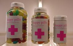 Best wishes for a speedy recovery! Box pills full of candy.