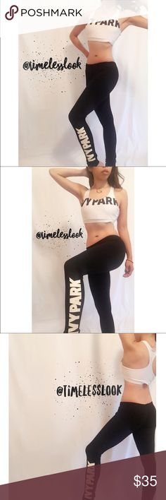 """IVY PARK LETTERS BEYONCE EXERCISE SET BRA & BOTTOM Ivy park LETTERS LEGGINGS AND SPORTS BRA SET - BEYONCE - EXERCISE SET  •no trades 🚫 •SHIPS TOMORROW💋  •Brand new!  •TRUE TO SIZE ❗️❗️❗️brand added for exposure ATT! ❗️price reflects authenticity  @goguios in insta 📸(account manager) is wearing size small   🎀visit """"Closet Rules"""" for more info - Timeless Look Men coming soon more info in closet 💕 Yeezy Intimates & Sleepwear"""