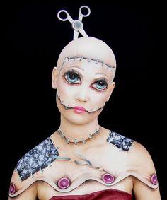cinema makeup school - doll makeup #sfx #makeup #halloween