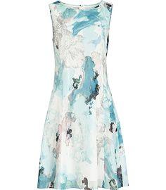 Reiss Powys Printed Dress