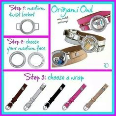 Origami Owl leather wrap bracelets in five colors. www.angierhoads.origamiowl.com