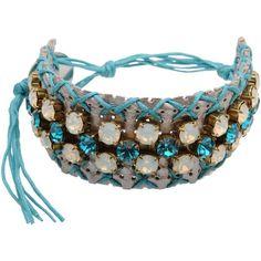 Miviu Bracelet ($71) ❤ liked on Polyvore featuring jewelry, bracelets, turquoise, bracelet bangle and bracelet jewelry
