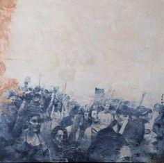 "Saatchi Art Artist Raúl Lara; Painting, ""Protesta"" #art"