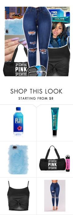 """""""P i n k"""" by siinco ❤ liked on Polyvore featuring beauty, OPTIONS, Skinnydip, Victoria's Secret and Topshop"""