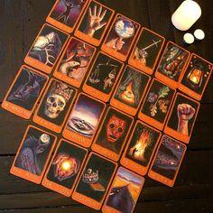 Maggie Stiefvater's hand drawn Tarot deck.