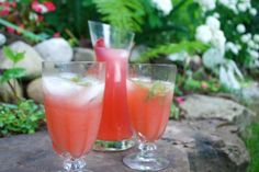 I have to try this rhubarb cocktail this summer