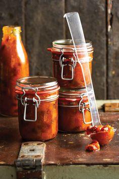 Perske-en-appelkoos-blatjang, Die lekker ding van dié blatjang is dat jy droëvrugte gebruik – jy kan dus heeljaar blatjang kook