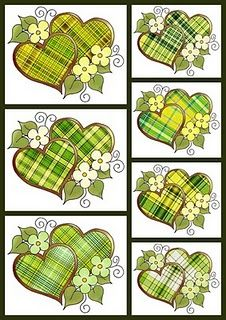 Lime heart collage sheet  http://www.orzest.com/