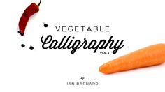 Showing that you don't need expensive tools to do calligraphy. Actually anything will do! Vegetable cast: 1. Carrot 2. Broccoli 3. Asparagus 4. Lemon Grass 5...