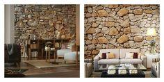 papier peint imitation pierre et texture pour décoration murale de salon