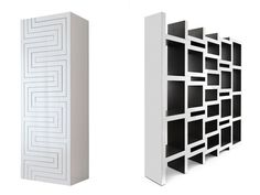 The growing bookcase by designer Reinier de Jong grows with your book collection. The more books the bigger the bookcase gets. The clever zigzag shape. Futuristisches Design, Regal Design, House Design, Clever Design, Shelf Design, Door Design, Design Furniture, Unique Furniture, Furniture Stores