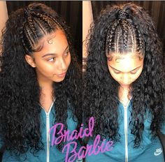 Top knot with curls by @touchbytb_ Visit VoiceOfHair.com for more ...