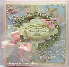 Shabby Chic card using Vintage Ovals Labels