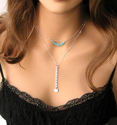 Genuine Turquoise Necklace Dainty December by DorotaJewelry