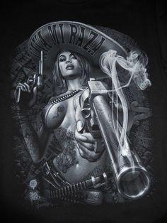 I'm Latina I've got this! Chicano Tattoos, Body Art Tattoos, Fantasy Anime, Fantasy Art, Arte Lowrider, Mexican Tattoo, Cholo Style, Brown Pride, Aztec Art