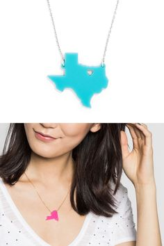 Show love for your home state or your favorite state with this pendant, which comes in a variety of stylish colors. Gets yours today!