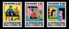 Andy Rementer designs 3D printing-inspired stamps for San Marino