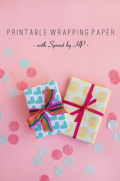 TELL: DIY WRAPPING PAPER WITH SPROUT BY HP - Tell Love and ChocolateTell Love and Chocolate