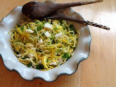 Summer Squash Slaw with Feta and Green Onions