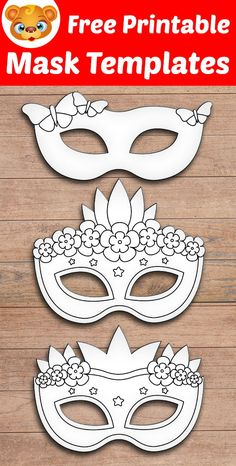 Free Printable Mask Template for Kids. #mask #template #printable