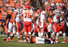 Outside linebacker Lerentee McCray (55) of the Denver Broncos is injured on a play. The Denver Broncos played the Kansas City Chiefs at Sports Authority Field at Mile High in Denver, Colorado on September 14, 2014. (Photo by Joe Amon/The Denver Post)-- #ProFootballDenverBroncos