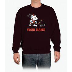 Snoopy Hockey - Personalized Crewneck Sweatshirt