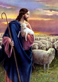 Jesus the Good Shepherd by Josef Untersberger aka Giovanni Jesus And Mary Pictures, Pictures Of Jesus Christ, Mary And Jesus, Jesus Is Lord, God Pictures, Jesus Shepherd, Christ The Good Shepherd, Image Jesus, Jesus Photo