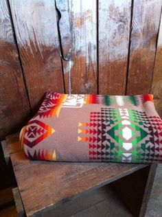 RESERVED Vintage PENDLETON Indian Blanket,Chief Joseph, Native American Design, 1920's