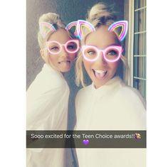 Lisa and Lena on snapchat before TCAs