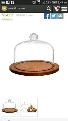 Wooden base dome cheese board