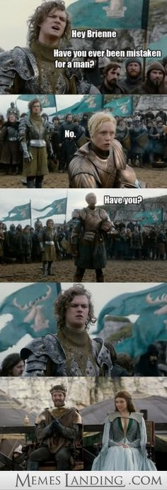 Hey Brienne - - Game of Thrones Photos and Funny Pics - Memes Landing