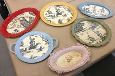 Decoupaged silver plated trays using Chalk Paint®