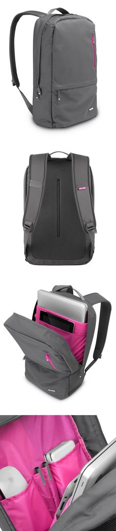 Nylon Campus Pack Dray Gray Pink by Incase // neat backpack / luggage design