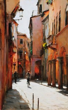 Dmitri Danish Original Oil - Midday, Padova