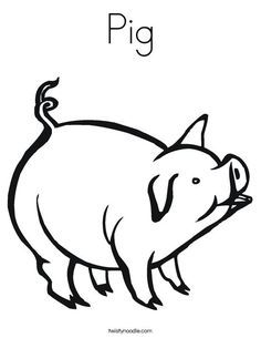 Pig color page, animal coloring pages, color plate, coloring sheet ...