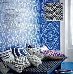 Use of lots of different patterns in same space with colors that go together