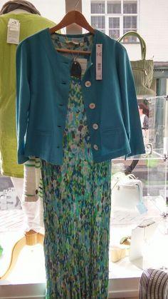 Adini crinkle long dress & Viz linen jacket