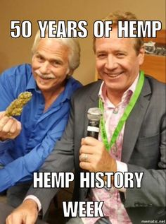 Richard Rose (L) and Chris Boucher, 50 years of hemp experience. Pros and Bros.