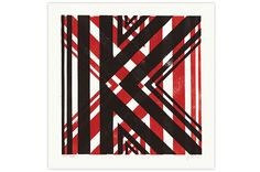 Lino Print Letter K by James Brown...