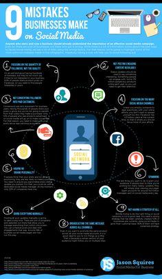 Mistakes businesses make on #socialmedia