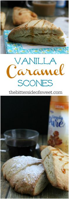 Vanilla Caramel Scones | The Bitter Side of Sweet #IDSimplyPure #ad