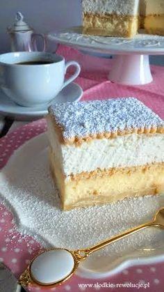 Słodkie rewolucje Pauliny. Domowe ciasta i ciasteczka na każdą okazję! Napoleons Recipe, Custard Slice, Italian Pastries, Polish Recipes, Vanilla Cake, Nom Nom, Delish, Cheesecake, Good Food
