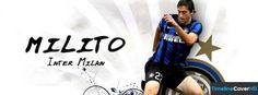 Inter Milan Diego Milito 1 Facebook Cover Timeline Banner For Fb Facebook Cover