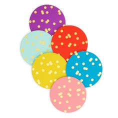 kate spade polka-dot coasters