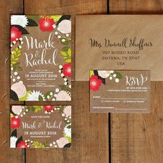 Floral Canopy Wedding Invitation - Feel Good Wedding Invitations