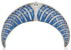 On the Block: The Westminster Blue Enamel Kokoshnik | The Court Jeweller