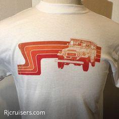 Toyota land cruiser FJ40 retro distressed T-Shirt by RjCruisers